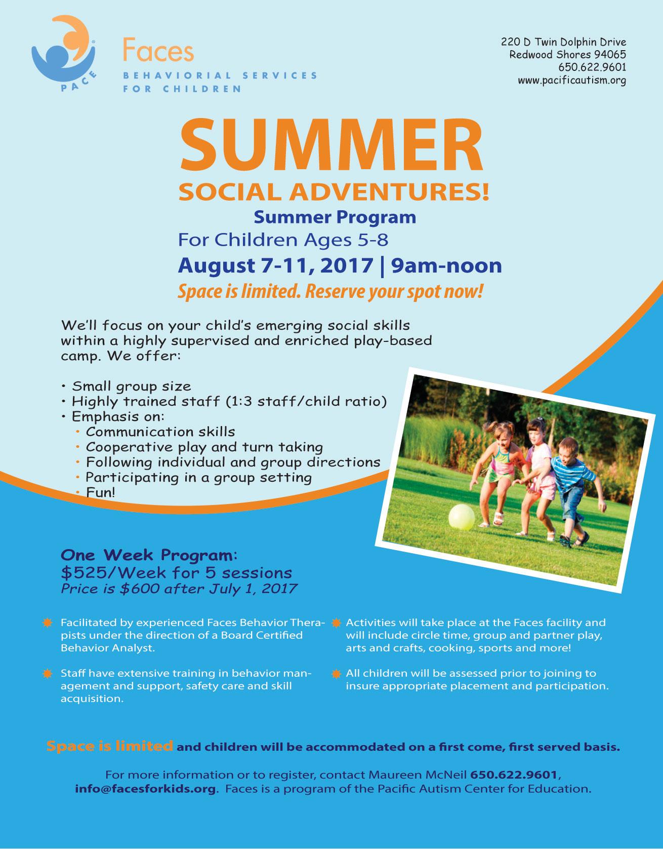 Faces Summer Program 2017